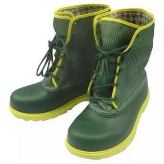 チル(ccilu)の新品ccilu 2wayブーツ29.5cmグリーン(長靴/レインシューズ)