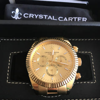 アヴァランチ(AVALANCHE)のクリスタルカーター時計 ゴールド アヴァランチ(腕時計(アナログ))