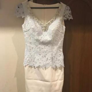 ジュエルズ(JEWELS)のjewels ペプラムレースドレス  美品 キャバドレス(ナイトドレス)