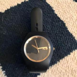 【ice watch】時計 アナログウォッチ ラバーベルト 黒 ブラック
