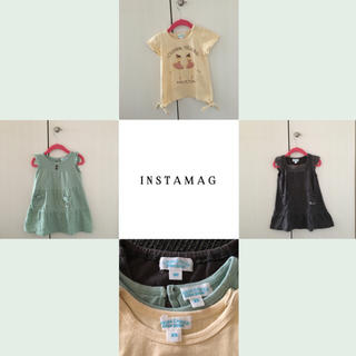 チッカチッカブーンブーン(CHICKA CHICKA BOOM BOOM)のTシャツ&ワンピース3点セット(女の子80〜90cm)(ワンピース)
