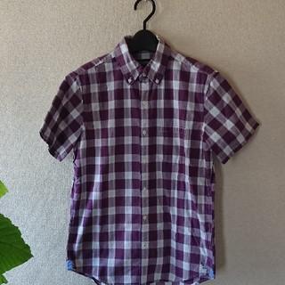 アメリカンイーグル(American Eagle)の美品 アメリカンイーグル 半袖 ボタンダウン シャツ XS チェック 160(シャツ)