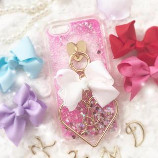 ♡様✩6(L)白 Dreamy Glitter♡(iPhoneケース)