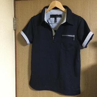 トランザクション(transaction)のレインボージップポケット ブラックxストライプ ポロシャツ新品(ポロシャツ)