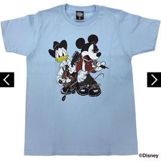 ディズニー(Disney)の【新品未開封】B'z × Disney 親子TシャツB(ブルー) JSサイズ(ミュージシャン)