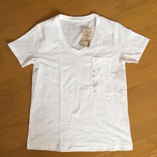 ムジルシリョウヒン(MUJI (無印良品))の新品未使用 無印良品 Vネック半袖Tシャツ(Tシャツ(半袖/袖なし))