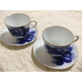 オオクラトウエン(大倉陶園)の大倉陶園  ブルーローズ  カップ&ソーサー(食器)