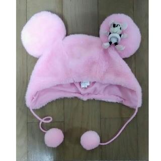 ディズニー(Disney)のミニーちゃん 帽子 かぶりもの ディズニーランド(キャラクターグッズ)