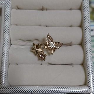 蝶と星のピンキーリング(リング(指輪))