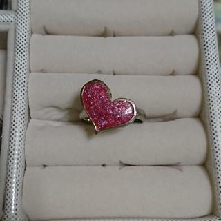 ピンクラメハートのリング(リング(指輪))