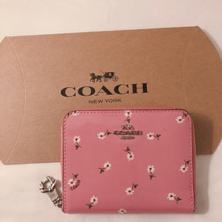 コーチ(COACH)のCOACH♡リボンチャーム♡花柄/フラワー 二つ折り財布/コインケース 新品(財布)