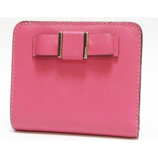 コーチ(COACH)の正規品 COACH コーチ 二つ折り財布 レザー ピンク リボン(財布)