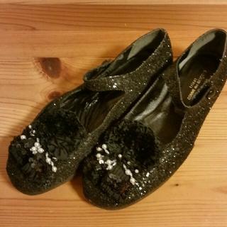 コムデギャルソン(COMME des GARCONS)のtricot COMME des GARCONS キラキラ黒靴(スリッポン/モカシン)