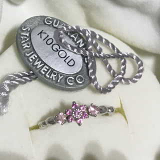スタージュエリー(STAR JEWELRY)のピンクサファイア 10Kホワイトゴールド ピンキーリング(リング(指輪))