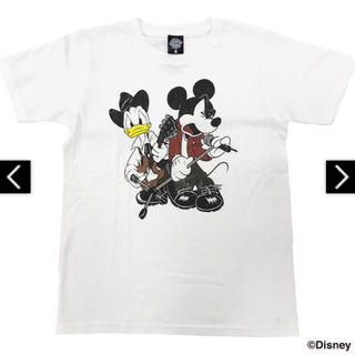 ディズニー(Disney)の【新品未開封】B'z × Disney 親子TシャツB(白) JSサイズ(ミュージシャン)