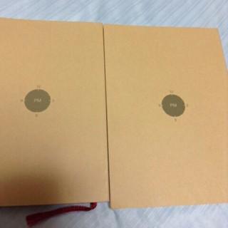ムジルシリョウヒン(MUJI (無印良品))の無印良品 スケジュール帳 2冊セット(ノート/メモ帳/ふせん)