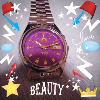 オリエント(ORIENT)のオリエント】 ORIENT 腕時計スリースター ピンク文字版(腕時計(アナログ))
