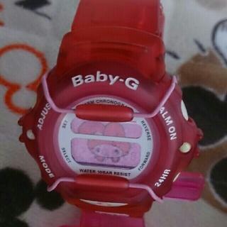 ベビージー(Baby-G)のBaby-G 340 カスタム染色ローズピンク マイメロディ(腕時計)
