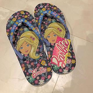 バービー(Barbie)の新品未使用 バービー  ビーチサンダル ブルー 21センチ(サンダル)