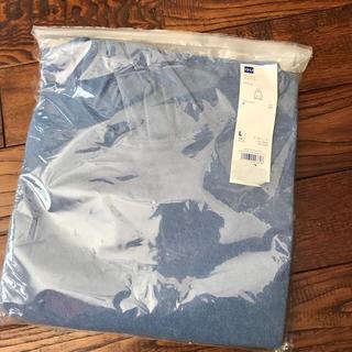 GU - GU ブルーのフード付きパイル地パーカー メンズLサイズ