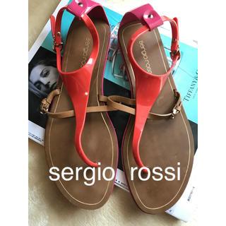 セルジオロッシ(Sergio Rossi)のsergio rossi  セルジオロッシ ラバーサンダル 38(サンダル)