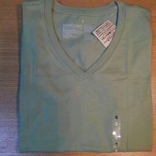 ムジルシリョウヒン(MUJI (無印良品))の無印良品 オーガニックコットン Vネック半袖 Tシャツ ライトグリーン 婦人 S(Tシャツ(半袖/袖なし))