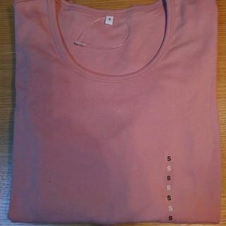 ムジルシリョウヒン(MUJI (無印良品))の無印良品 オーガニックコットン クルーネック長袖 Tシャツ ピンク 婦人 S(シャツ/ブラウス(長袖/七分))
