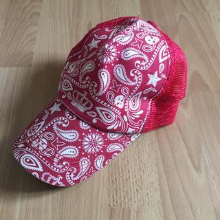 ラスケー(RUSS・K)のRUSS-K キャップ 帽子 赤 ペイズリー柄 検ナイキ アディダス ラスケー(キャップ)