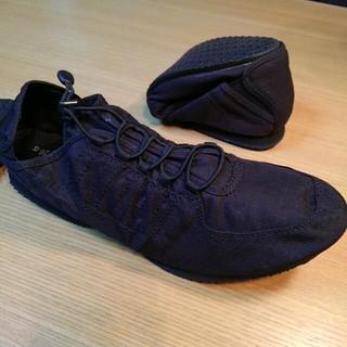 ムジルシリョウヒン(MUJI (無印良品))の無印良品 折りたためる コンパクト シューズ 黒 26.5cm(その他)
