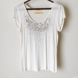 デンドロビウム(DENDROBIUM)のスパンコールTシャツ(Tシャツ(半袖/袖なし))