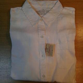 ムジルシリョウヒン(MUJI (無印良品))の無印良品 フレンチリネン 洗いざらし シャツ 婦人 白 S(シャツ/ブラウス(長袖/七分))