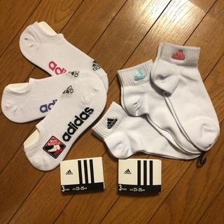 アディダス(adidas)の弥生様専用 新品 アディダス 靴下 3P×2セットソックス 白 adidas(ソックス)