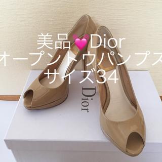 ディオール(Dior)のDiorオープントゥパンプス サイズ34 (ハイヒール/パンプス)