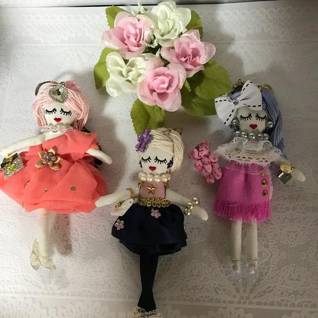 ルルベちゃんバックチャームドール    パーティースタイル ハンドメイドのファッション小物(バッグチャーム)の商品写真