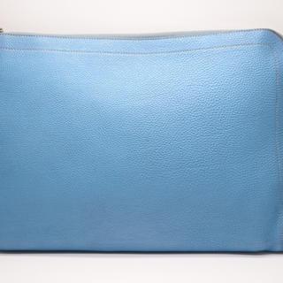 エルメス(Hermes)のエルメス ジップコンピューター クラッチ バッグ ブルージーン □R刻印 トゴ(セカンドバッグ/クラッチバッグ)