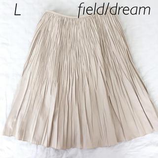 フィールドドリーム(field/dream)のお値下げ   field/dream  プリーツスカート  L(ひざ丈スカート)