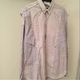 アンリアレイジ(ANREALAGE)のANREALAGE ストライプパッチワークシャツ(シャツ)
