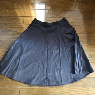 デンドロビウム(DENDROBIUM)のブラックフレアスカート(ひざ丈スカート)
