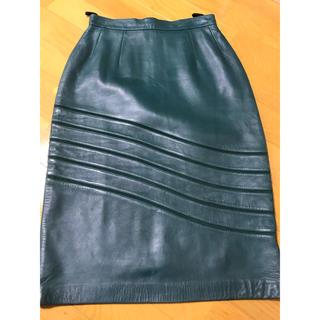 ロエベ(LOEWE)のLOEWE レザースカート(ひざ丈スカート)