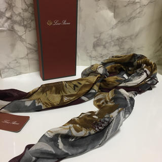 ロロピアーナ(LORO PIANA)の新品 ロロピアーナ  スカーフ エルメス好きな方にオススメ ペイズリー  (バンダナ/スカーフ)