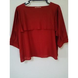 ジョルジュレッシュ(GEORGES RECH)の四角い襟 フレンチクラシカル 赤茶(シャツ/ブラウス(半袖/袖なし))