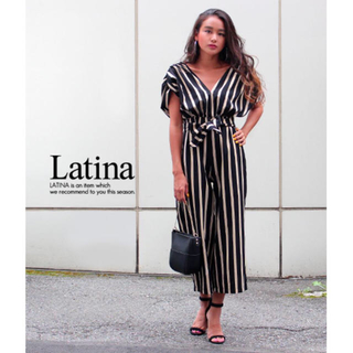 アナップラティーナ(ANAP Latina)のLatina ストライプ オールインワン(オールインワン)