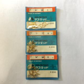 ゴーセン(GOSEN)のマスタッド製 グレ 金 6号 3袋セット(釣り糸/ライン)