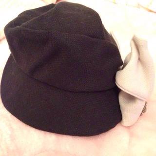 マリークワント(MARY QUANT)のマリークワント リボン帽子(ニット帽/ビーニー)
