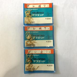 ゴーセン(GOSEN)のマスタッド製 グレ 金 7号 3袋セット(釣り糸/ライン)