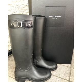 サンローラン(Saint Laurent)のサンローラン  レインブーツ 長靴 35 ブラック(レインブーツ/長靴)