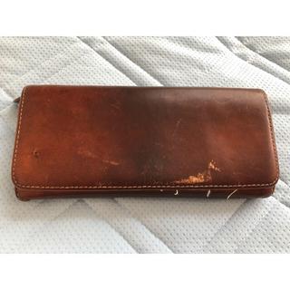 ムジルシリョウヒン(MUJI (無印良品))のヌメ革 財布(長財布)