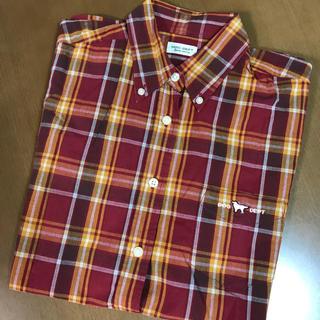ドッグデプト(DOG DEPT)の美品 ドッグデプト 半袖 チェックシャツ(シャツ/ブラウス(半袖/袖なし))