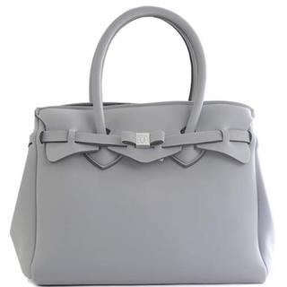 美品 SAVE MY BAG グレー VAPORE Mサイズ(トートバッグ)