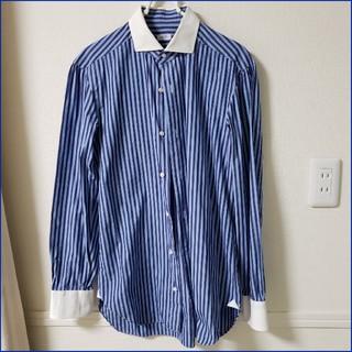 バルバ(BARBA)のBARBA/バルバ クレリックドレスシャツ ストライプ Napoliイタリア製(シャツ)